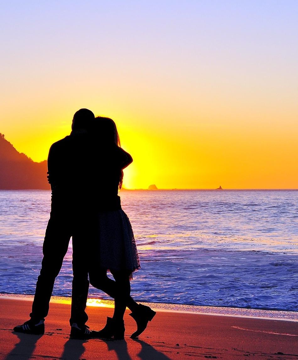 Paar am Meer